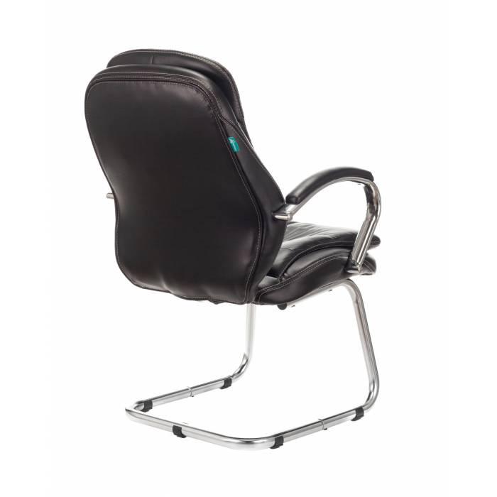 Кресло Бюрократ T-9950AV/BLACK-PU на полозьях черный искусственная кожа купить по выгодным ценам