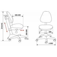 Кресло детское Бюрократ KD-2/PK/TW-13A розовый TW-13A