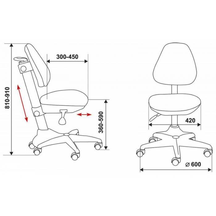 Кресло детское Бюрократ KD-2/PK/TW-13A розовый TW-13A купить по выгодным ценам