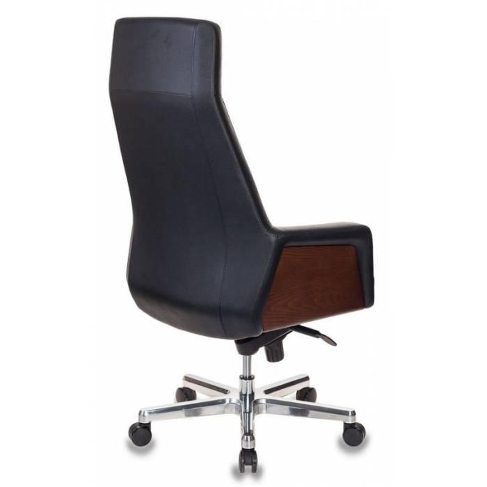 Кресло руководителя Бюрократ _ANTONIO/BLACK черный кожа крестовина алюминий купить по выгодным ценам