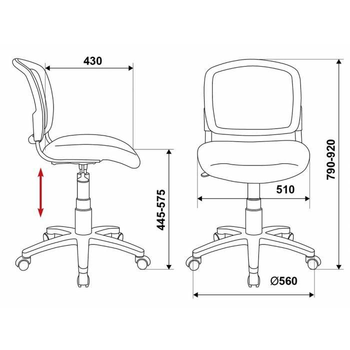 Кресло детское Бюрократ CH-296/PENCIL-BL спинка сетка синий карандаши купить по выгодным ценам