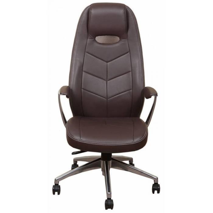 Кресло руководителя Бюрократ _ZEN/BROWN коричневый кожа крестовина алюминий купить по выгодным ценам