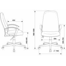 Кресло руководителя Бюрократ CH-808LT/#G серый 3C1 НА ПИАСТРЕ