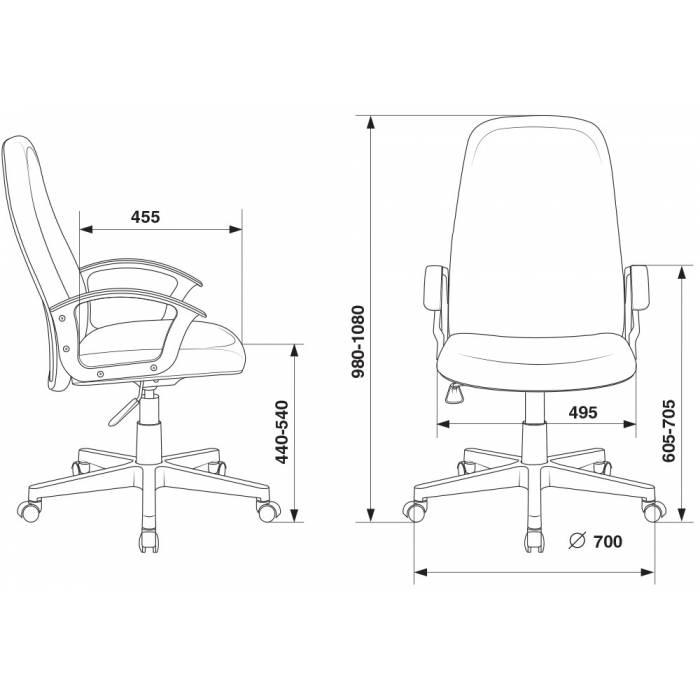 Кресло руководителя Бюрократ CH-808LT/#G серый 3C1 НА ПИАСТРЕ купить по выгодным ценам