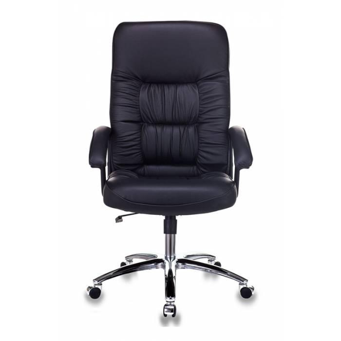 Кресло руководителя Бюрократ T-9908AXSN-AB черный кожа крестовина хром купить по выгодным ценам