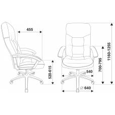 Кресло руководителя Бюрократ T-9908AXSN-AB черный кожа крестовина хром