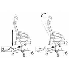 Кресло руководителя Бюрократ T-995HOME/GREY серый TW-04+ 10-128 сетка/ткань крестовина металл
