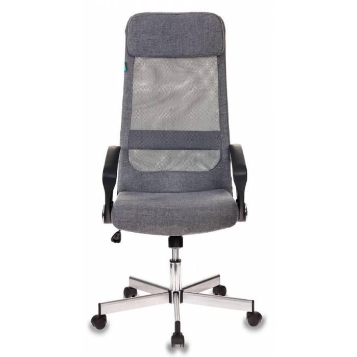 Кресло руководителя Бюрократ T-995HOME/GREY серый TW-04+ 10-128 сетка/ткань крестовина металл купить по выгодным ценам