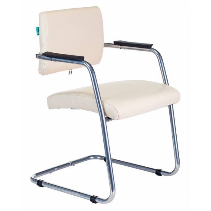 Кресло Бюрократ CH-271N-V/SL/OR-12 светло-бежевый зеркальный хром искусственная кожа купить по выгодным ценам
