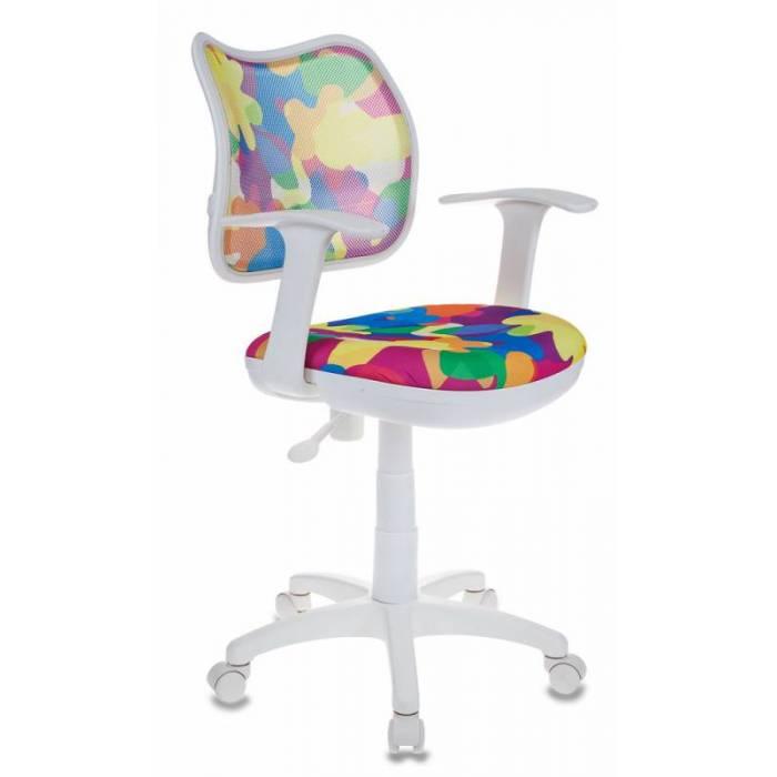 Кресло детское Бюрократ CH-W797/ABSTRACT спинка сетка мультиколор абстракция сиденье мультиколор абстракция (пластик белый) купить по выгодным ценам