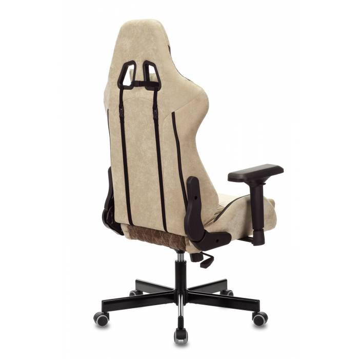Кресло игровое Бюрократ VIKING 7 KNIGHT BR FABRIC коричневый текстиль/эко.кожа крестовина металл купить по выгодным ценам
