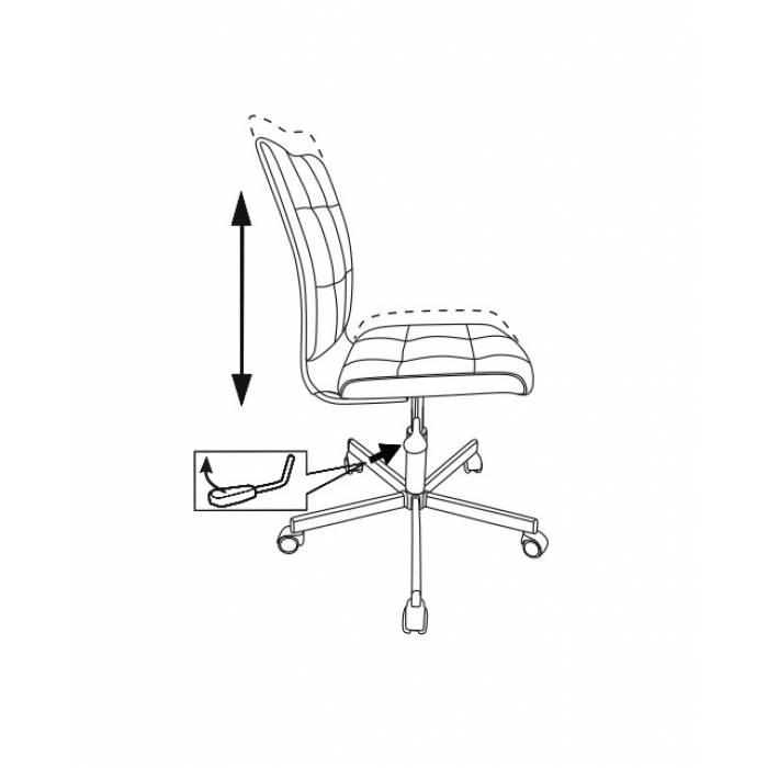 Кресло Бюрократ CH-330M/GREY без подлокотников серый Linkoln искусственная кожа крестовина металл купить по выгодным ценам