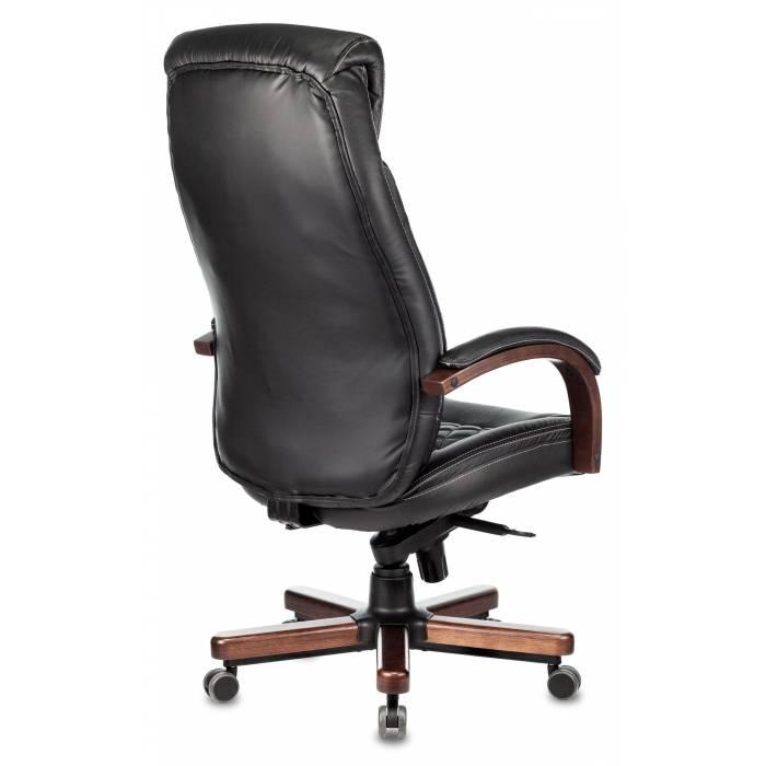 Кресло Бюрократ T-9924WALNUT черный кожа с подголов. крестовина металл/дерево купить по выгодным ценам