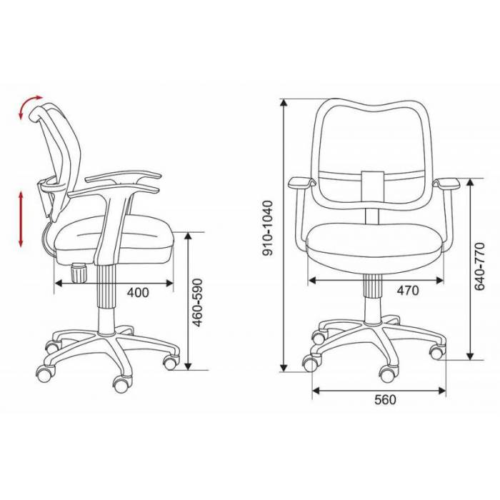 Кресло детское Бюрократ CH-W797/LB/TW-55 спинка сетка голубой сиденье голубой TW-55 (пластик белый) купить по выгодным ценам