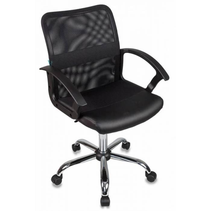 Кресло Бюрократ CH-590SL/BLACK спинка сетка черный сиденье черный искусственная кожа крестовина хром купить по выгодным ценам