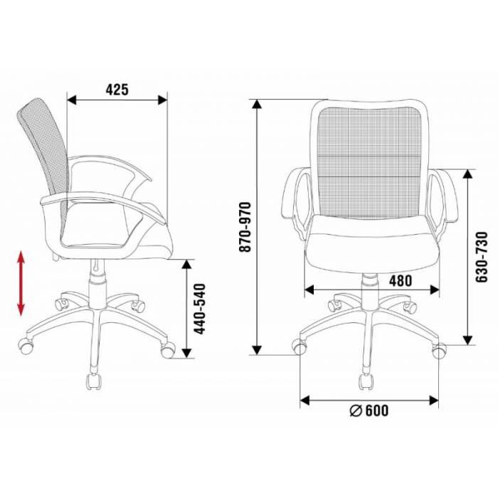 Кресло Бюрократ CH-590SL черный искусст.кожа/сетка крестовина металл хром купить по выгодным ценам