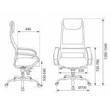 Кресло руководителя Бюрократ CH-609SL/BLACK спинка сетка черный TW-01 TW-11 искусст.кожа/ткань крестовина хром