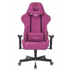 Игровое кресло Бюрократ VIKING KNIGHT Fabric малиновый Light-15 с подголов. крестовина металл