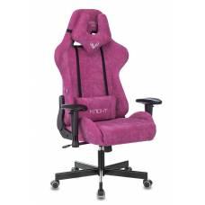 Кресло игровое Бюрократ VIKING KNIGHT LT15 FABRIC малиновый крестовина металл
