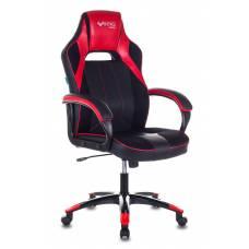 Кресло игровое Бюрократ VIKING 2 AERO RED черный/красный искусственная кожа