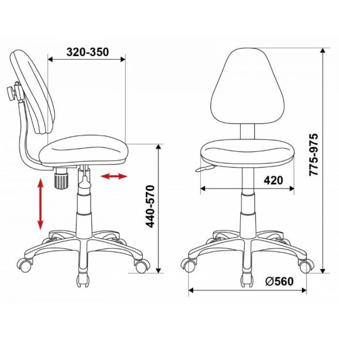 Кресло детское Бюрократ KD-4/TW-55 голубой TW-55 купить по выгодным ценам