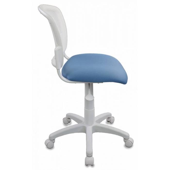 Кресло детское Бюрократ CH-W296NX/26-24 спинка сетка белый TW-15 сиденье голубой 26-24 купить по выгодным ценам