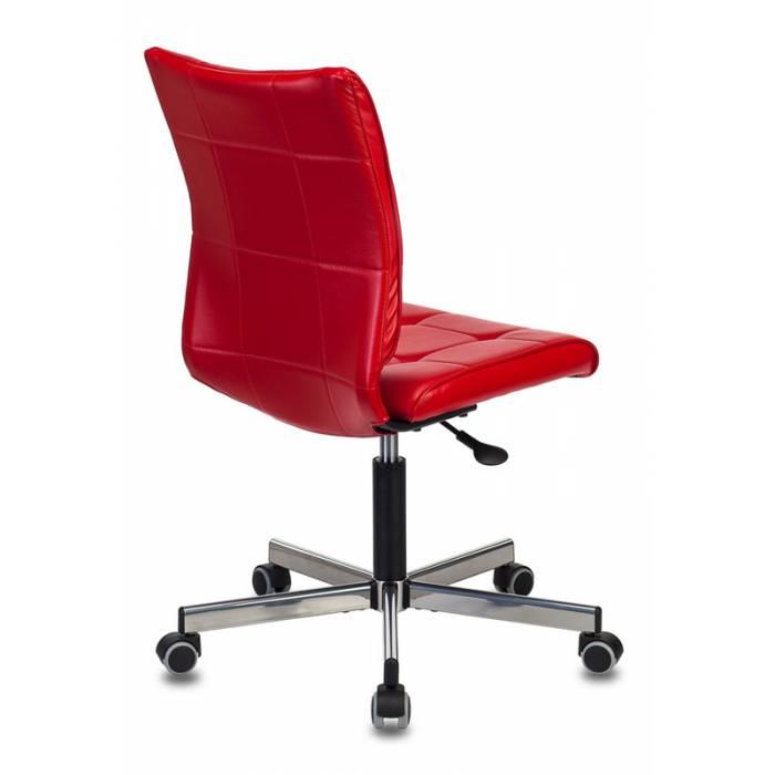 Кресло Бюрократ CH-330M/RED без подлокотников красный Next-13 искусственная кожа крестовина металл купить по выгодным ценам