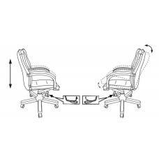 Кресло руководителя Бюрократ T-9927WALNUT-LOW светло-коричневый Leather Eichel кожа низк.спин. крестовина металл/дерево (T-9927WALNUT-LOW/CH)