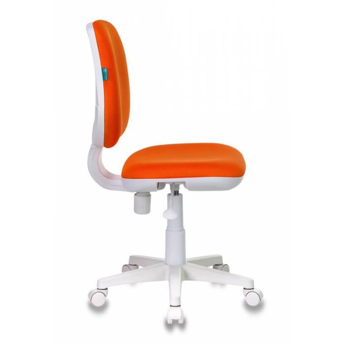 Кресло детское Бюрократ CH-W213/TW-96-1 оранжевый TW-96-1 (пластик белый) купить по выгодным ценам