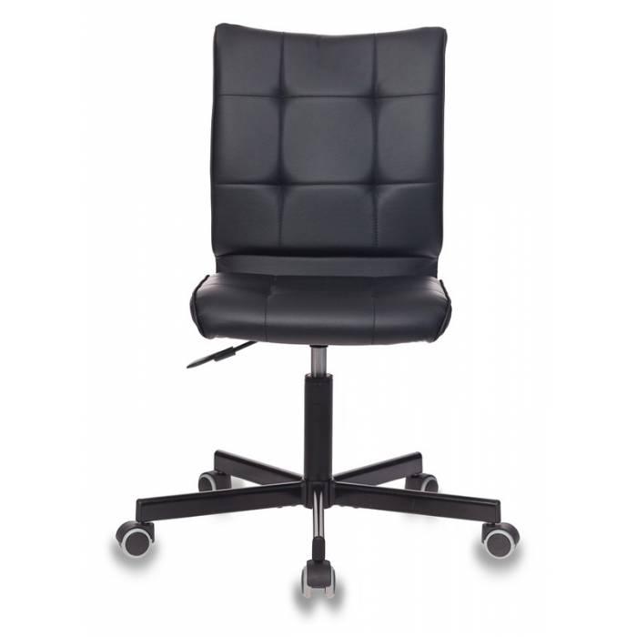 Кресло Бюрократ CH-330M/BLACK без подлокотников черный искусственная кожа крестовина металл купить по выгодным ценам