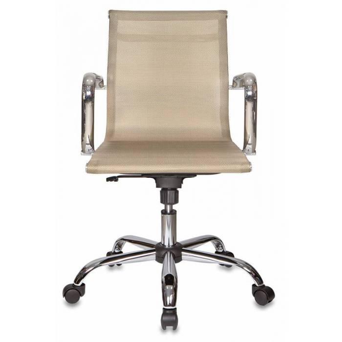 Кресло руководителя Бюрократ CH-993-Low/gold низкая спинка золотистый сетка крестовина хром купить по выгодным ценам