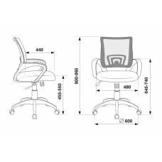 Кресло Бюрократ CH-695N/DG/TW-11 спинка сетка серый TW-04 сиденье черный TW-11