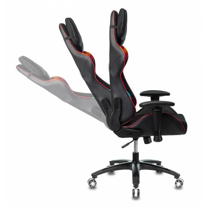 Кресло игровое Бюрократ VIKING 4 AERO RED две подушки черный/красный искусст.кожа/ткань купить по выгодным ценам