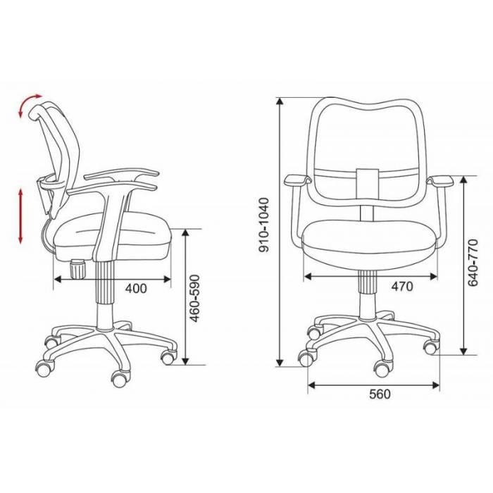Кресло детское Бюрократ CH-W797/BL/TW-10 спинка сетка синий сиденье синий TW-10 колеса белый/синий (пластик белый) купить по выгодным ценам