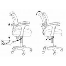 Кресло детское Бюрократ CH-W797/BL/TW-10 спинка сетка синий сиденье синий TW-10 колеса белый/синий (пластик белый)