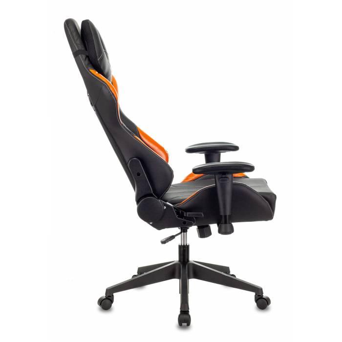Кресло игровое Бюрократ VIKING 5 AERO ORANGE черный/оранжевый искусственная кожа купить по выгодным ценам