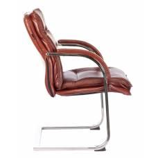 Кресло Бюрократ T-9927SL-LOW-V светло-коричневый Leather Eichel кожа низк.спин. полозья металл хром (T-9927SL-LOW-V/CHOK)