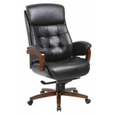 Кресло руководителя Бюрократ _MEGA/BLACK черный кожа крестовина металл
