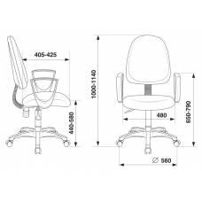 Кресло Бюрократ CH-1300N/3C1 серый Престиж+ 3C1