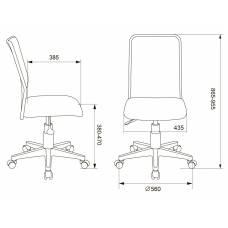 Кресло детское Бюрократ KD-9/WH/TW-55 голубой TW-31 TW-55 сетка/ткань (пластик белый)