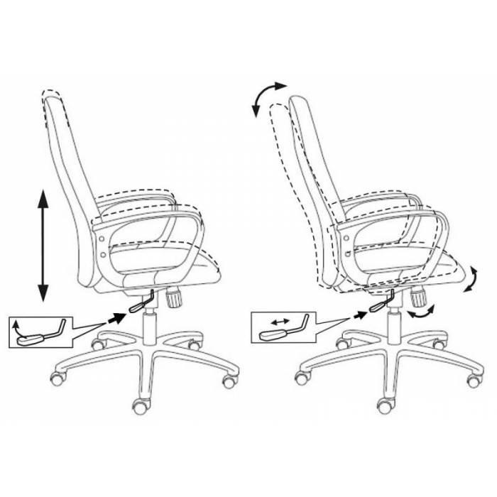 Кресло руководителя Бюрократ CH-808AXSN/G темно-серый 3C1 купить по выгодным ценам