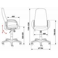 Кресло руководителя Бюрократ CH-808AXSN/G темно-серый 3C1