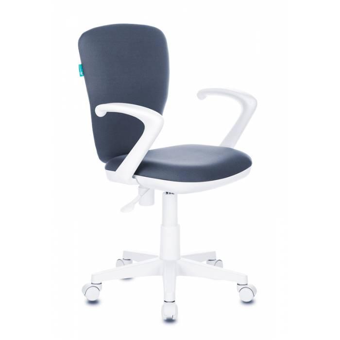 Кресло детское Бюрократ KD-W10AXSN/26-25 серый 26-25 (пластик белый) купить по выгодным ценам