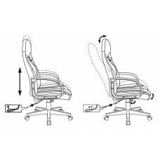 Игровое кресло Бюрократ ZOMBIE RUNNER черный/желтый искусственная кожа крестовина пластик