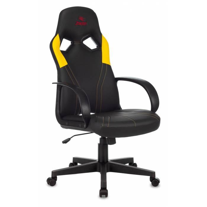 Игровое кресло Бюрократ ZOMBIE RUNNER черный/желтый искусственная кожа крестовина пластик купить по выгодным ценам