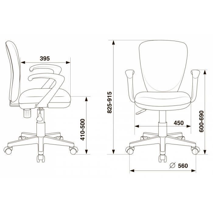Кресло детское Бюрократ KD-W10AXSN/26-22 красный 26-22 (пластик белый) купить по выгодным ценам