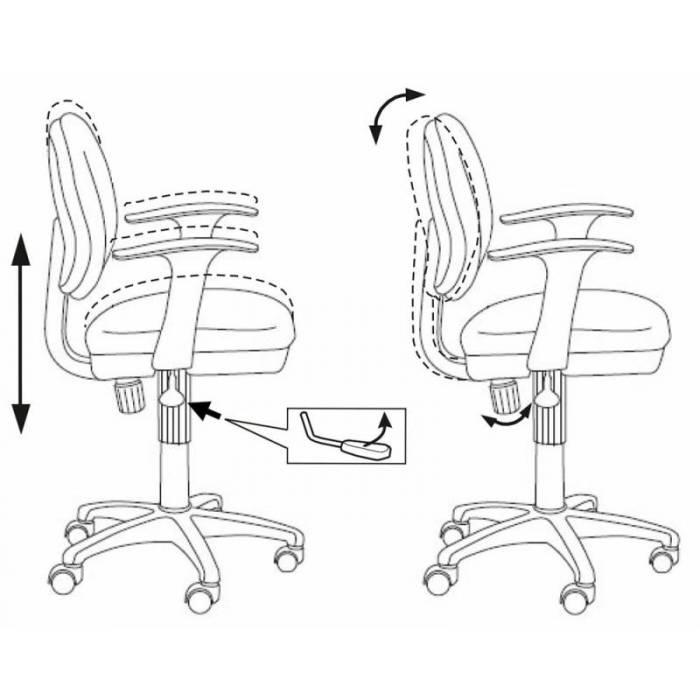 Кресло детское Бюрократ CH-W356AXSN/15-55 розовый 15-55 колеса белый/розовый (пластик белый) купить по выгодным ценам