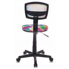 Кресло детское Бюрократ CH-299/ABSTRACT спинка сетка мультиколор сиденье мультиколор абстракция