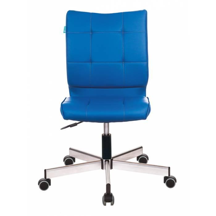 Кресло Бюрократ CH-330M/OR-03 без подлокотников синий искусственная кожа крестовина металл купить по выгодным ценам
