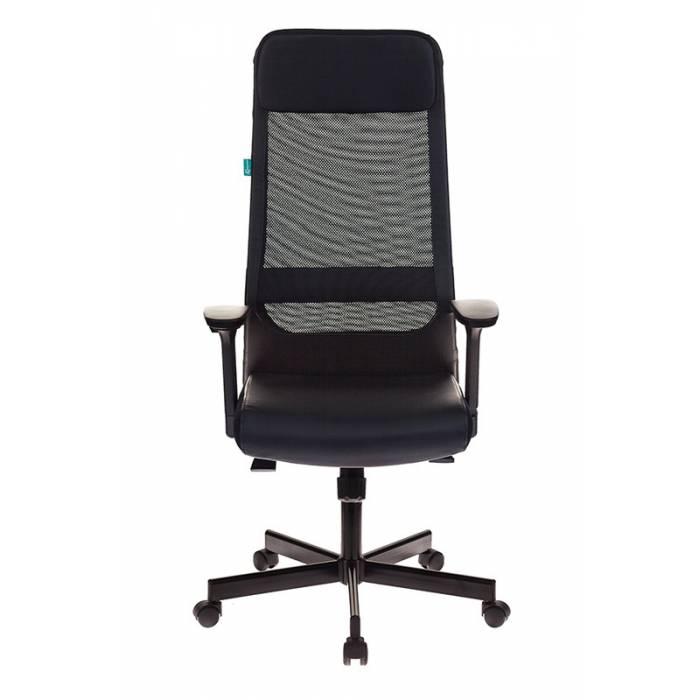Кресло руководителя Бюрократ T-995/BLACK черный TW-01 искусственная кожа крестовина металл купить по выгодным ценам